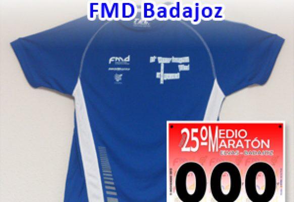 fmd-badajoz -Bolsa del corredor- CAMISETAS y dorsales evento