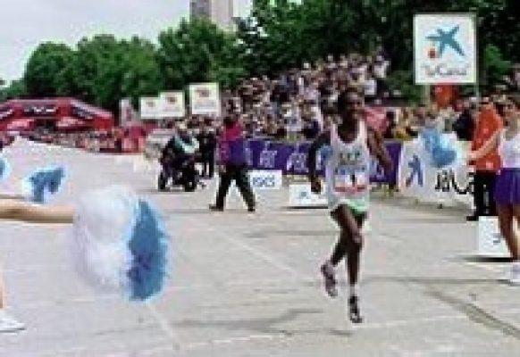 marathon de Madrid- montaje linea de meta